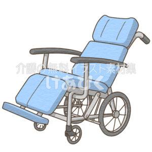 リクライニング車椅子のイラスト