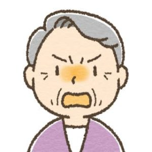 高齢女性・怒り
