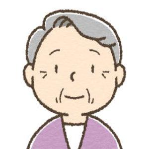 高齢女性・微笑み