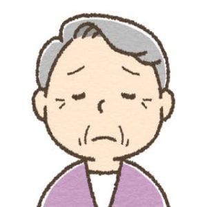 高齢女性・しょんぼり