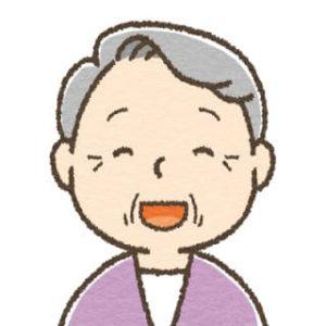 高齢女性・笑顔