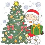 間違い探し(クリスマス)のイラスト正