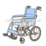 介助用車椅子のイラスト