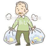 ゴミ出しが困難な高齢者のイラスト