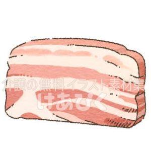 豚バラ肉のイラスト