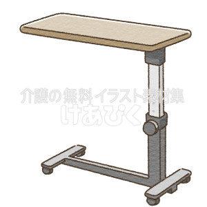 ベッドサイドテーブルのイラスト