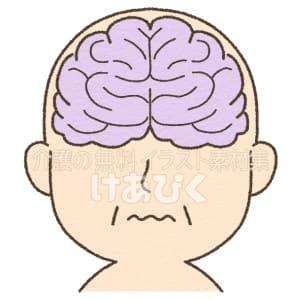病気の脳(正面)イメージイラスト