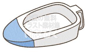 差し込み型便器のイラスト