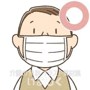 マスクを正しく装着しているイラスト