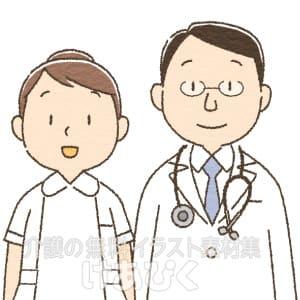 男性医師と女性看護師のイラスト