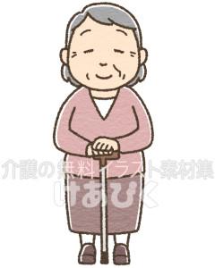 高齢者(女性)のイラスト