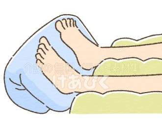 尖足予防(クッション)のイラスト