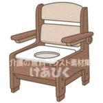 家具調ポータブルトイレのイラスト