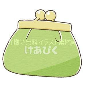 お財布(がま口)のイラスト