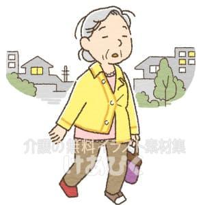 徘徊する高齢者のイラスト