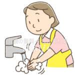 手を洗うヘルパーのイラスト