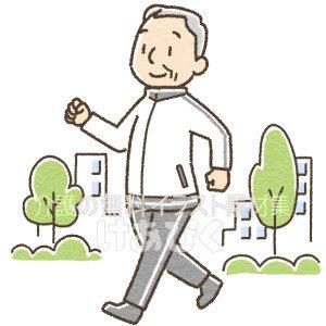 運動をする高齢者のイラスト