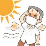 マスク熱中症のイラスト