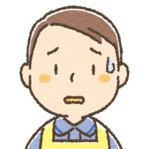 男性介護士・青ざめる