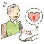 血圧が高い高齢者のイラスト