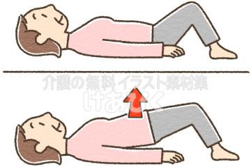 骨盤底筋体操のイラスト