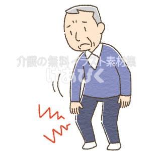 膝が痛い高齢者のイラスト
