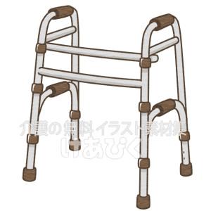 持ち上げ型歩行器のイラスト