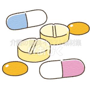 薬(錠剤やカプセル)のイラスト