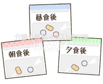 薬の一包化のイラスト