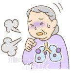 肺炎のイラスト