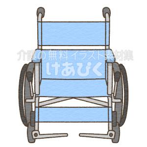 正面からみた車椅子のイラスト