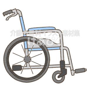 側面(横)から見た車椅子のイラスト