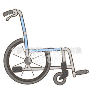 側面から見た車椅子のイラスト(座位図解用)