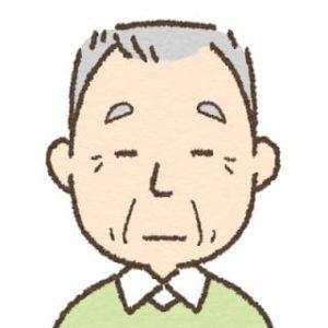 高齢者男性・無表情