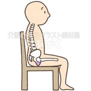 坐骨座りのイラスト