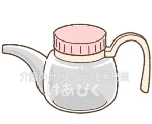 吸い飲み(ホルダー付き)のイラスト