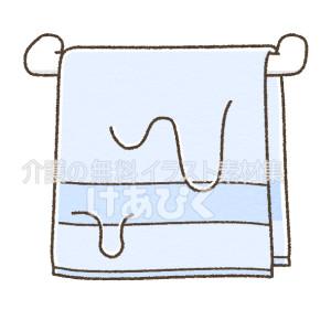 濡れたタオルのイラスト