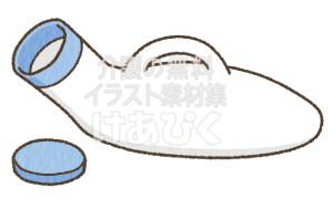 男性用排尿器のイラスト