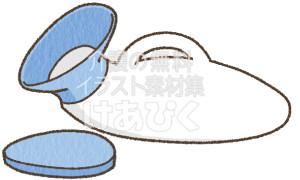 女性用排尿器のイラスト