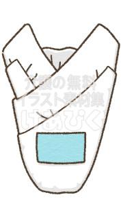 男性用尿取りパッドのイラスト