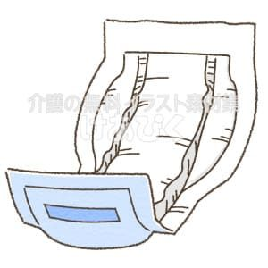 尿取パッドのイラスト