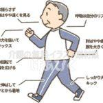 ウォーキング姿勢のポイントのイラスト