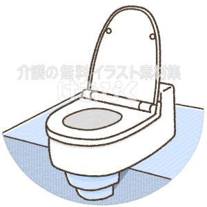 和式トイレを洋式トイレに変える便座のイラスト